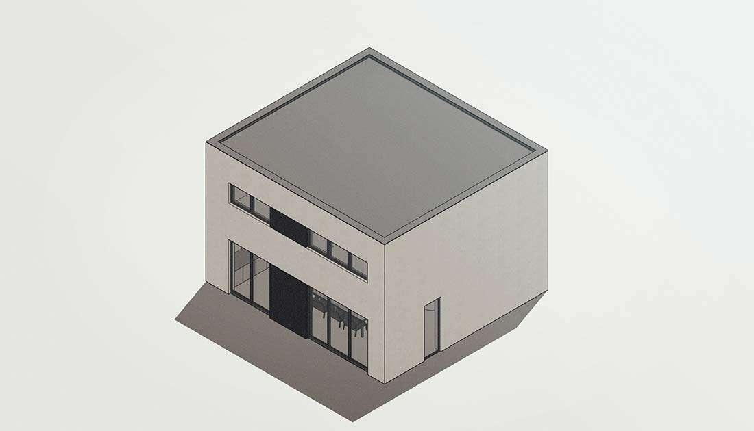 moderne kubuswoning